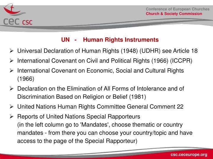 UN   -    Human Rights Instruments