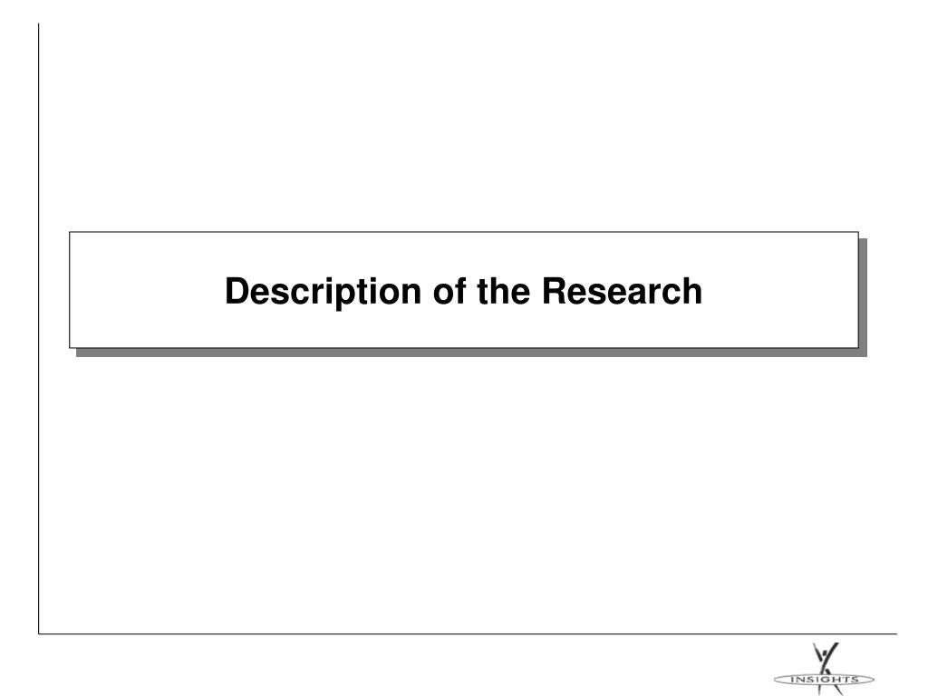 Description of the Research