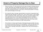 extent of property damage due to deer