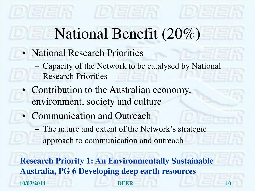 National Benefit (20%)