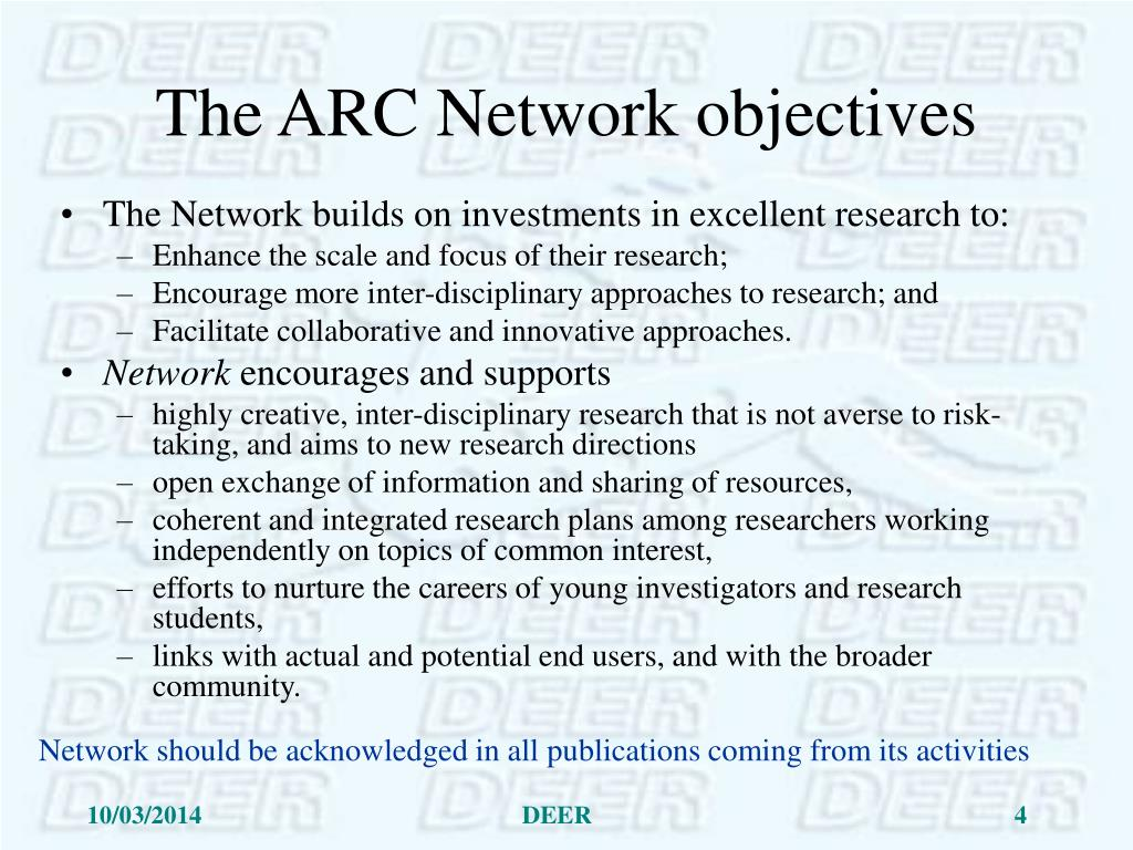 The ARC Network objectives
