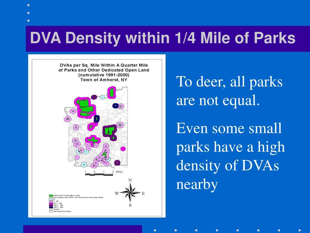 DVA Density within 1/4 Mile of Parks