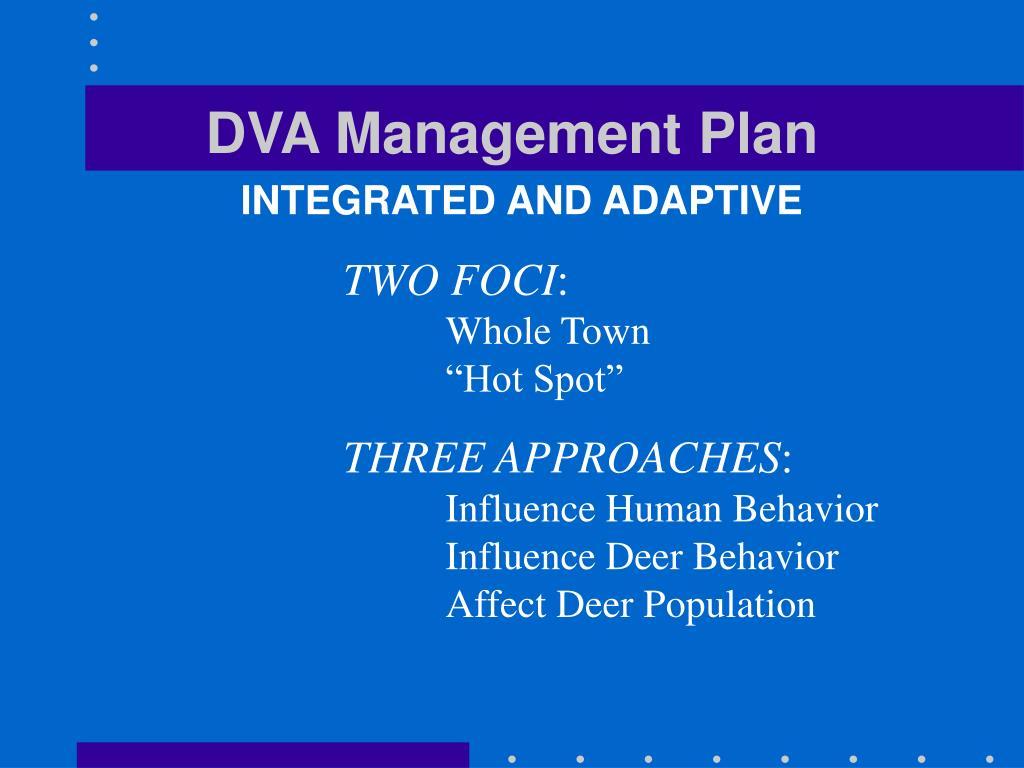 DVA Management Plan