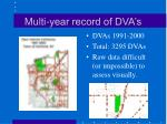 multi year record of dva s