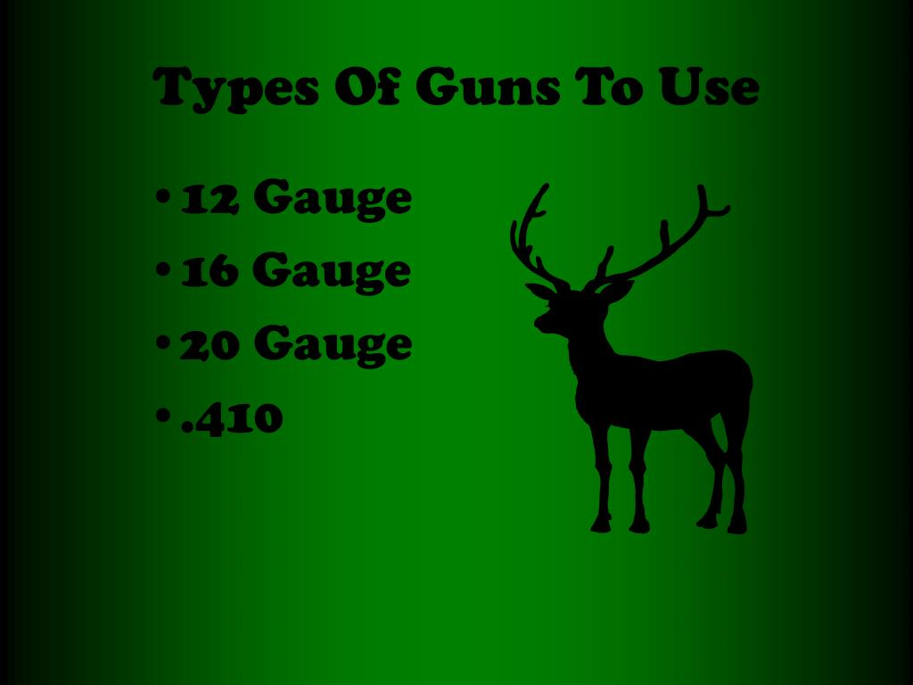 Types Of Guns To Use