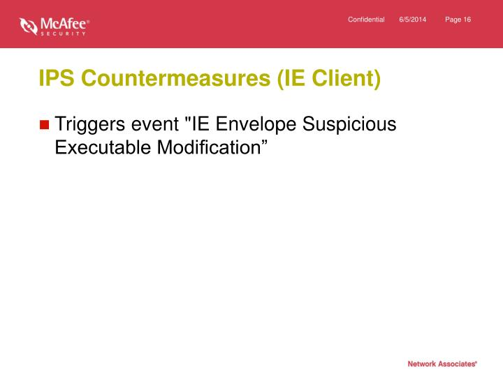 IPS Countermeasures (IE Client)