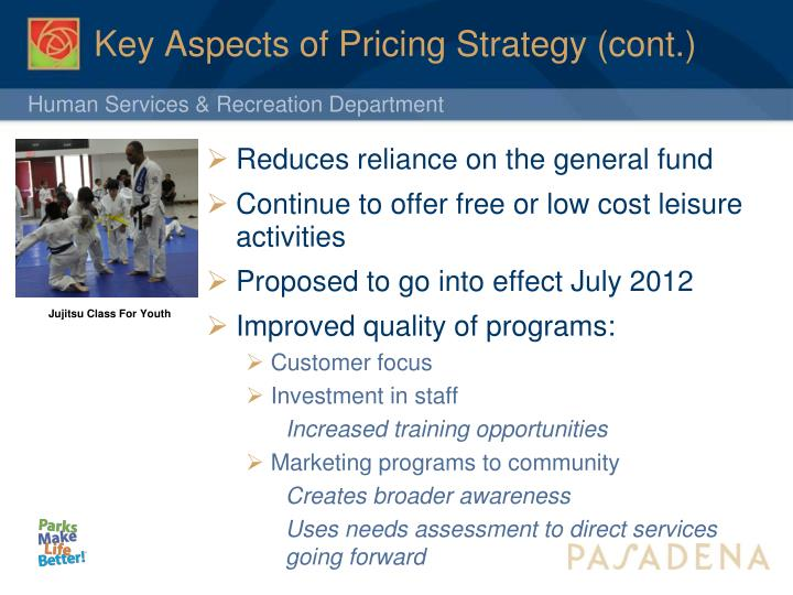 Key Aspects of Pricing Strategy (cont.)