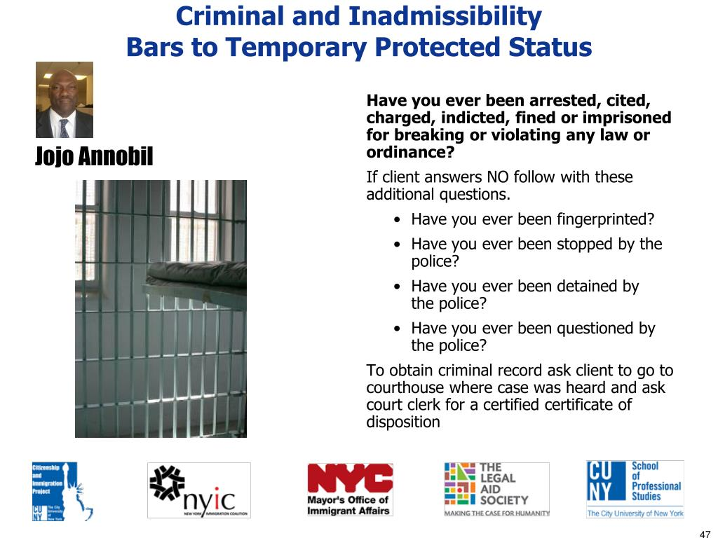 Criminal and Inadmissibility