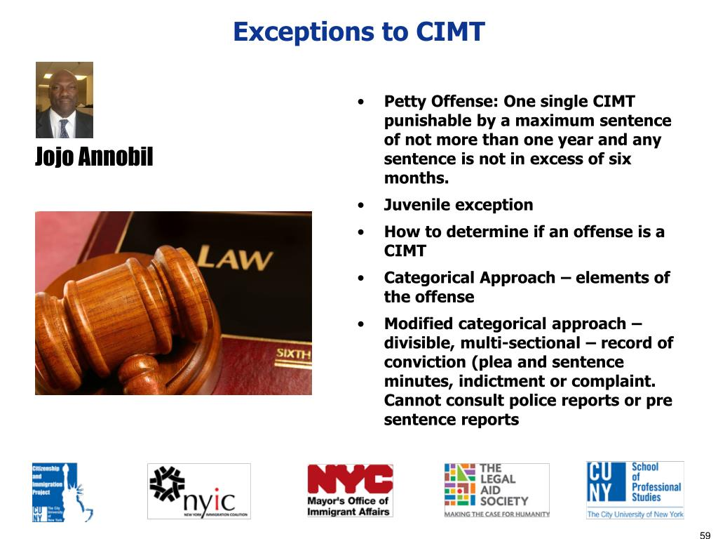 Exceptions to CIMT