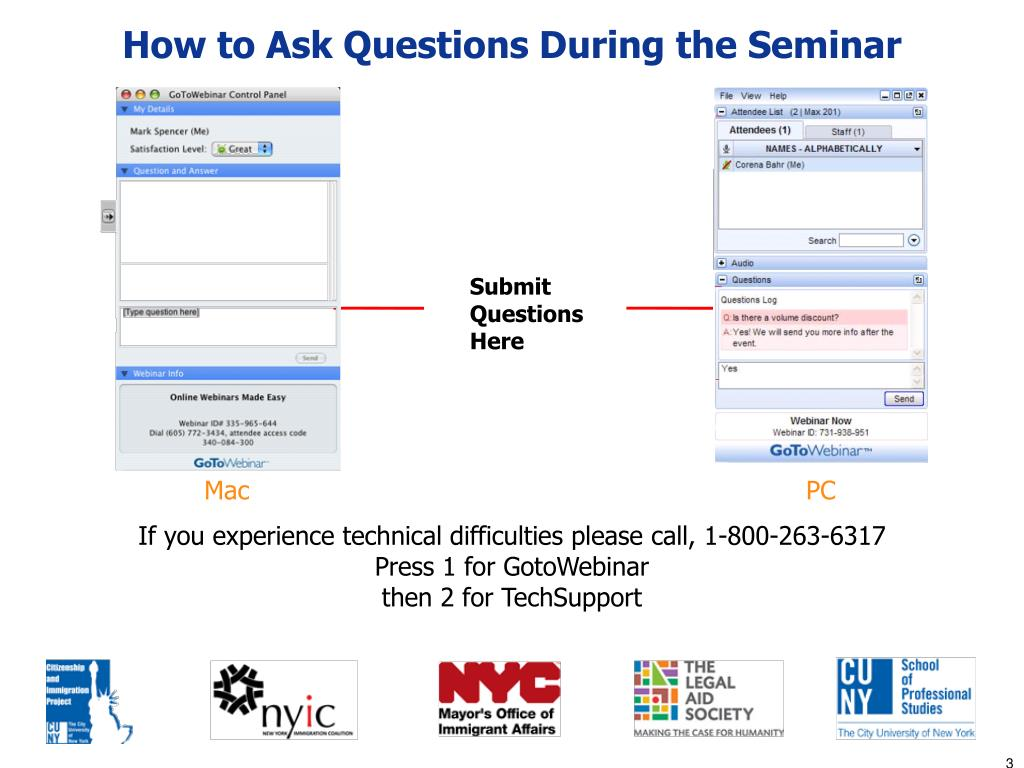 How to Ask Questions During the Seminar