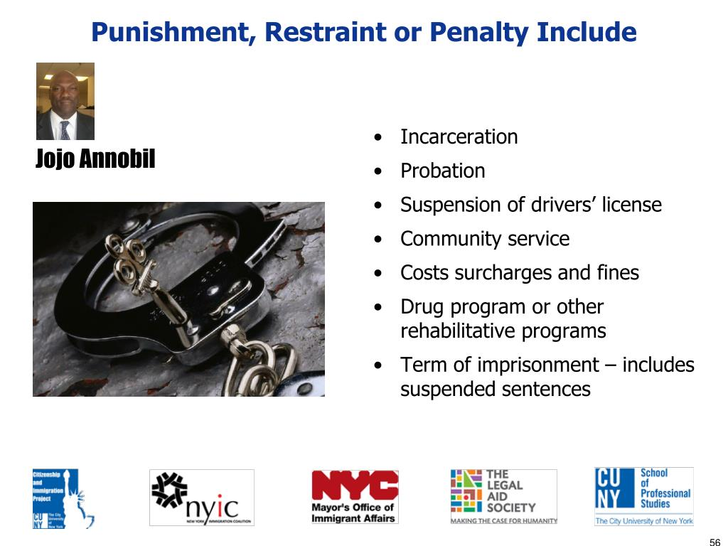 Punishment, Restraint or Penalty Include