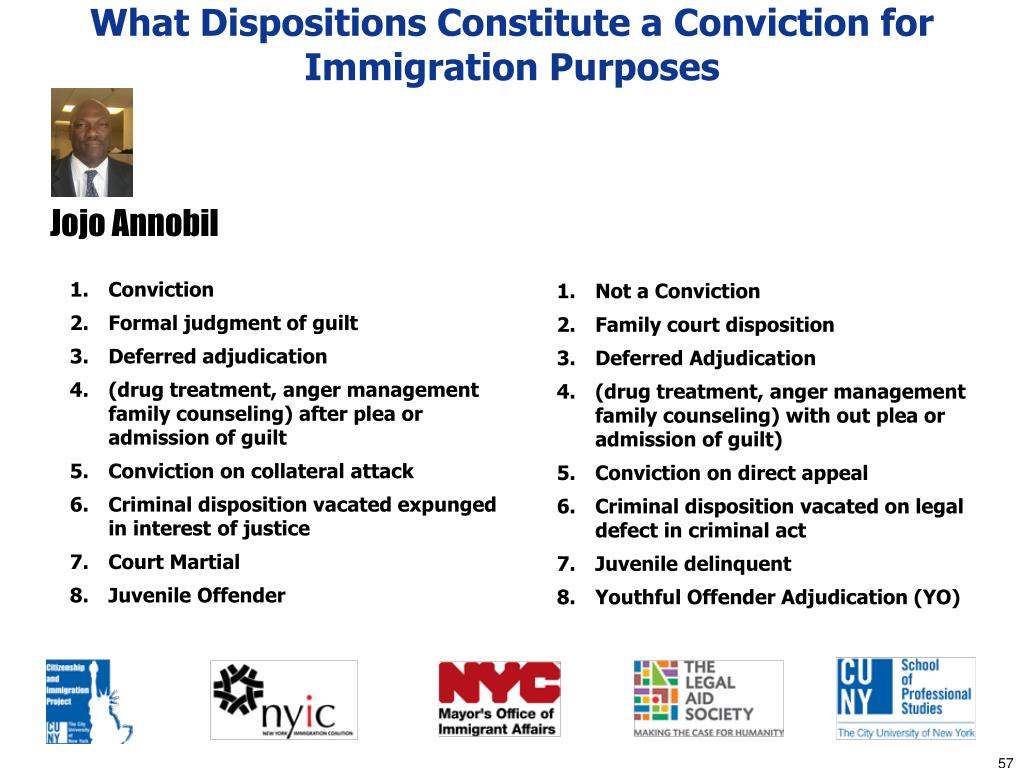 What Dispositions Constitute a Conviction for Immigration Purposes