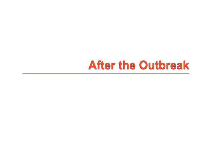 After the Outbreak