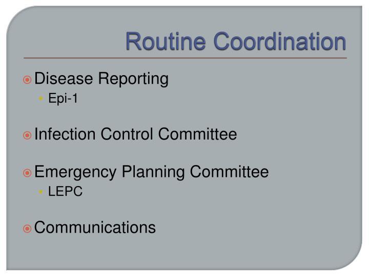 Routine Coordination