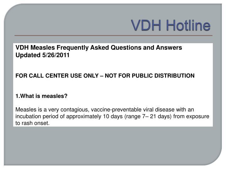 VDH Hotline