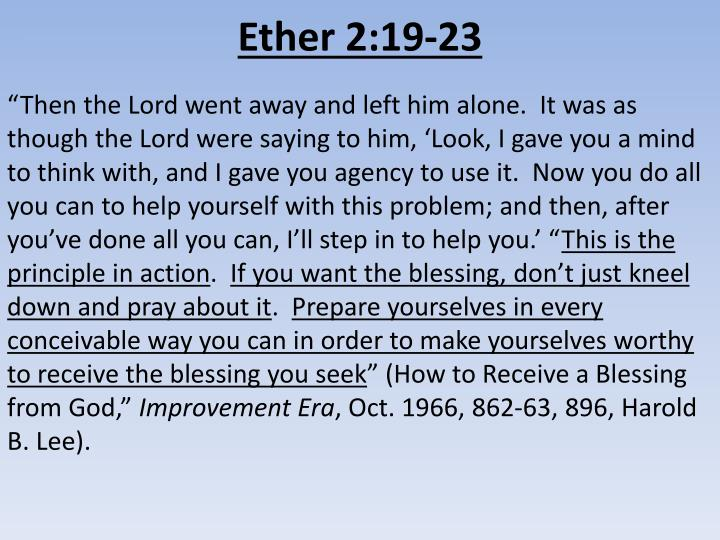 Ether 2:19-23