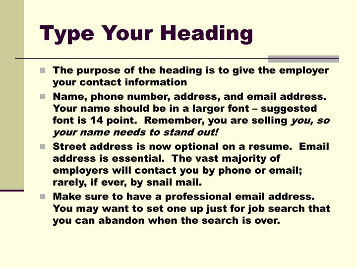 Type Your Heading
