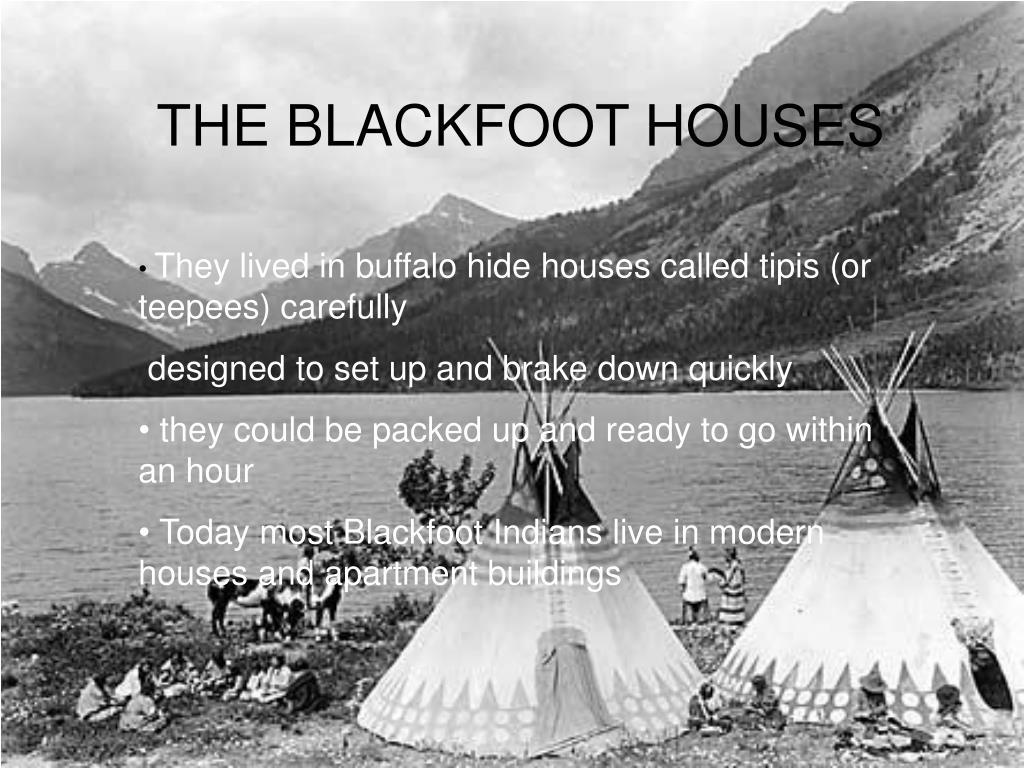 THE BLACKFOOT HOUSES