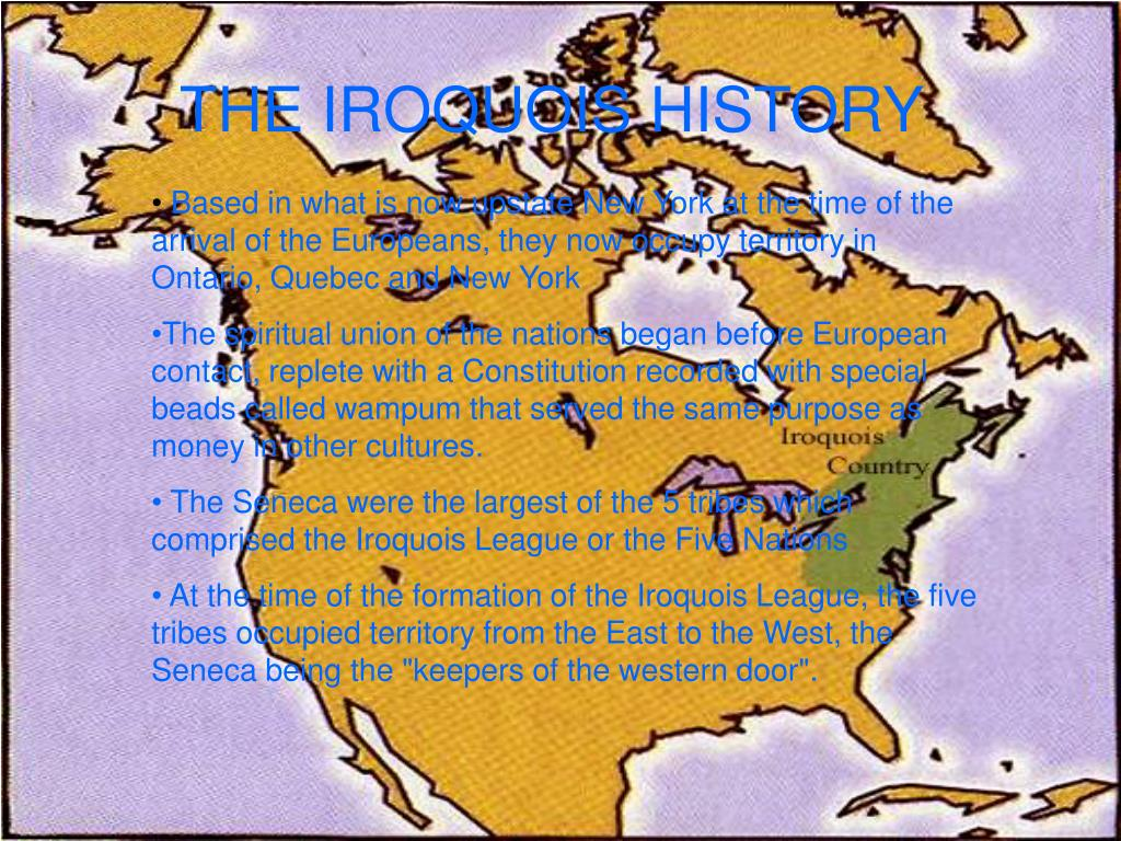 THE IROQUOIS HISTORY