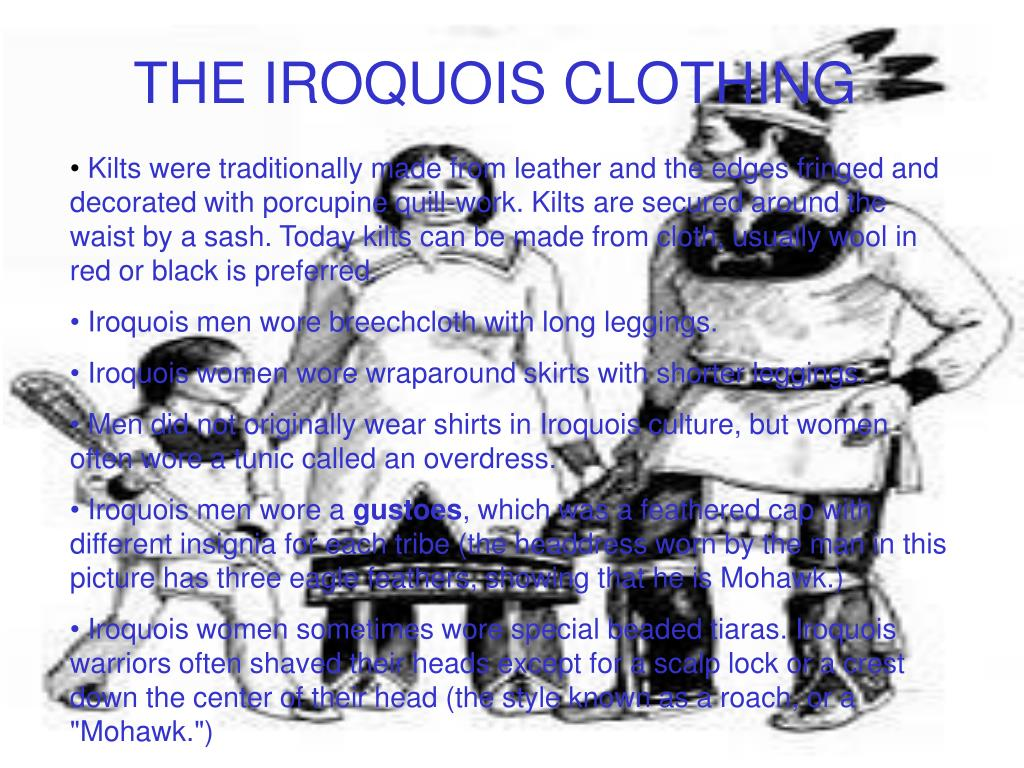 THE IROQUOIS CLOTHING
