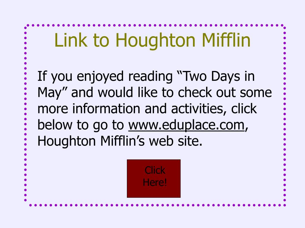 Link to Houghton Mifflin