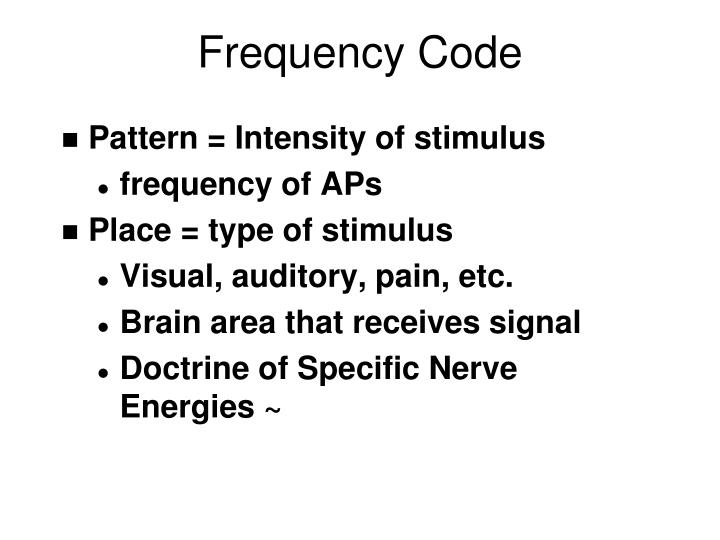 Frequency Code