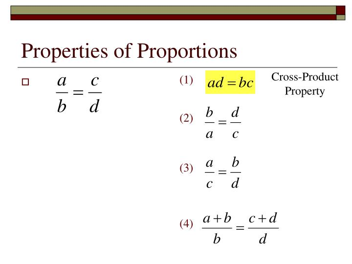 Properties of Proportions