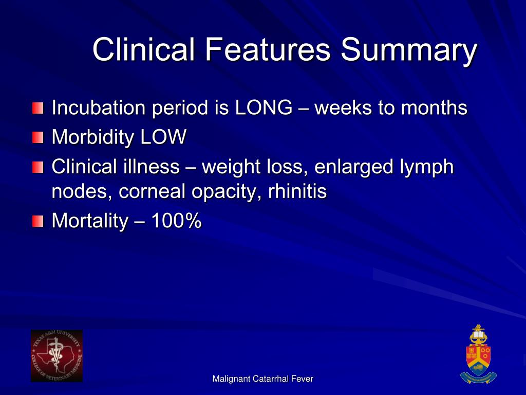 Clinical Features Summary