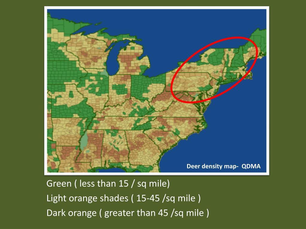 Deer density map-  QDMA