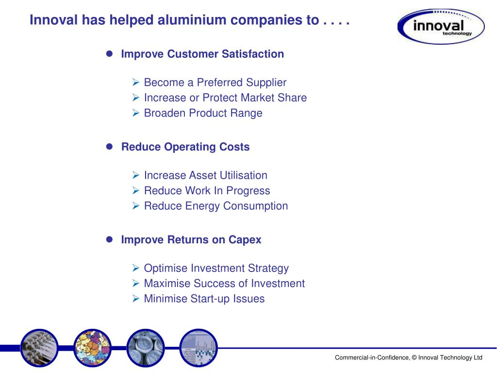 Innoval has helped aluminium companies to . . . .