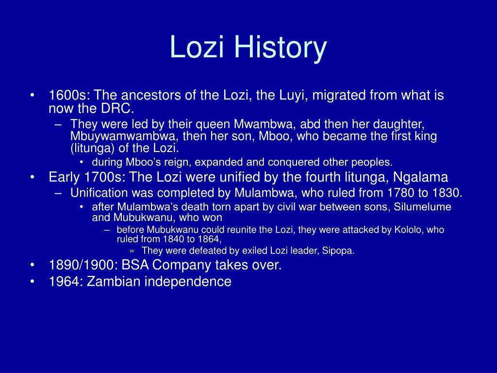 Lozi History