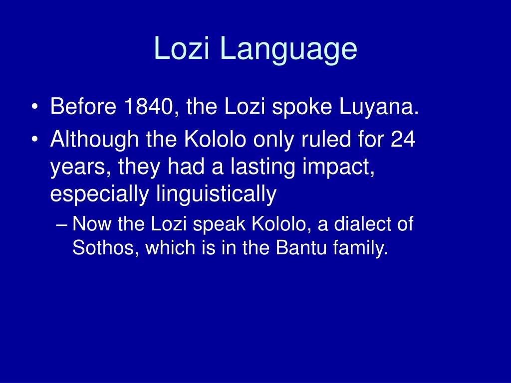 Lozi Language