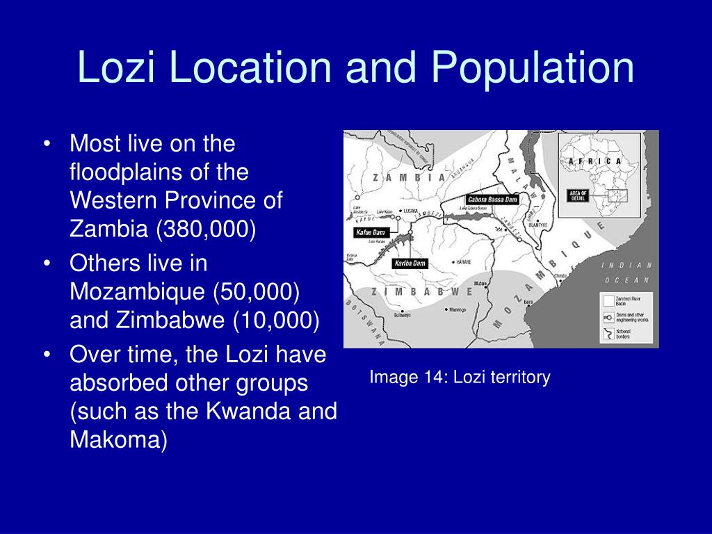 Lozi Location and Population