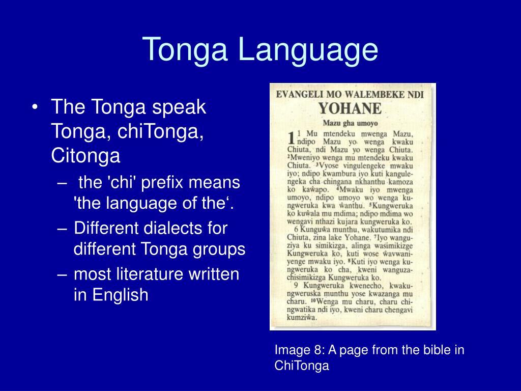 Tonga Language
