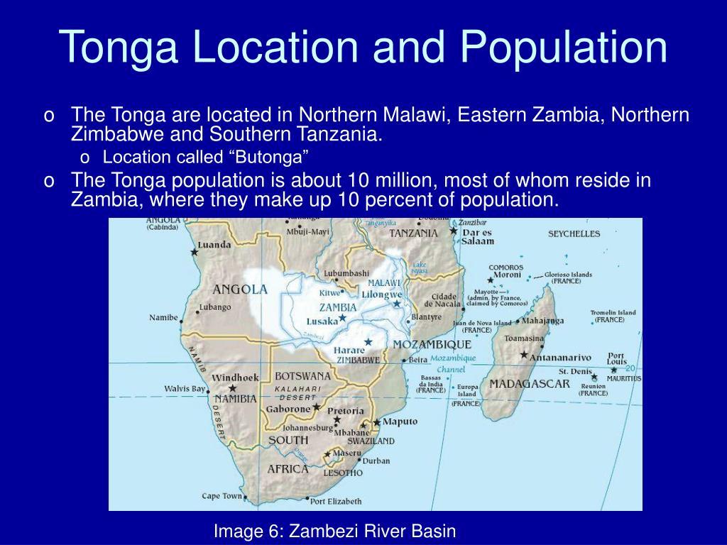 Tonga Location and Population