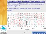 oceanographic variables and catch rates13