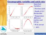oceanographic variables and catch rates15