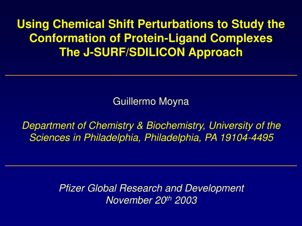 Using Chemical Shift Perturbations to Study the Conformation of Protein-Ligand Complexes
