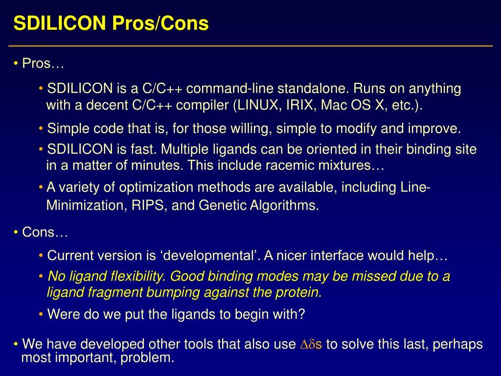 SDILICON Pros/Cons
