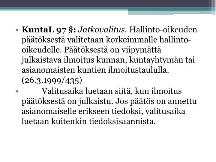 KuntaL 97 §: