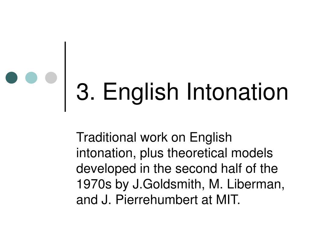 3. English Intonation
