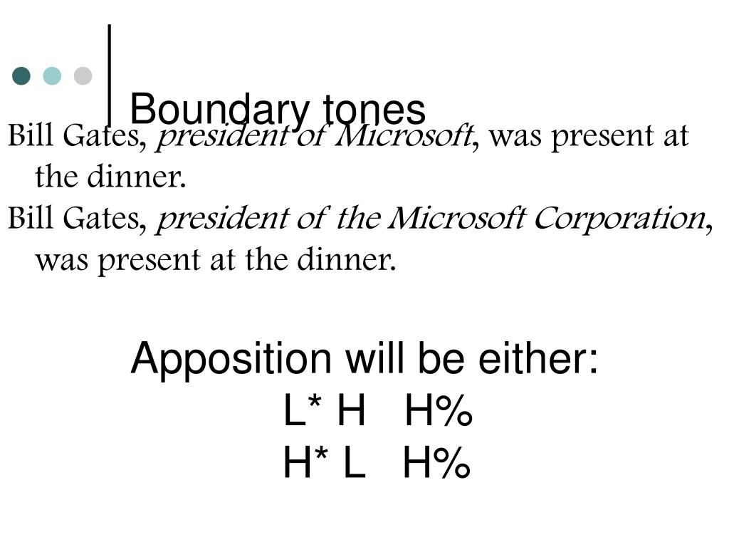 Boundary tones