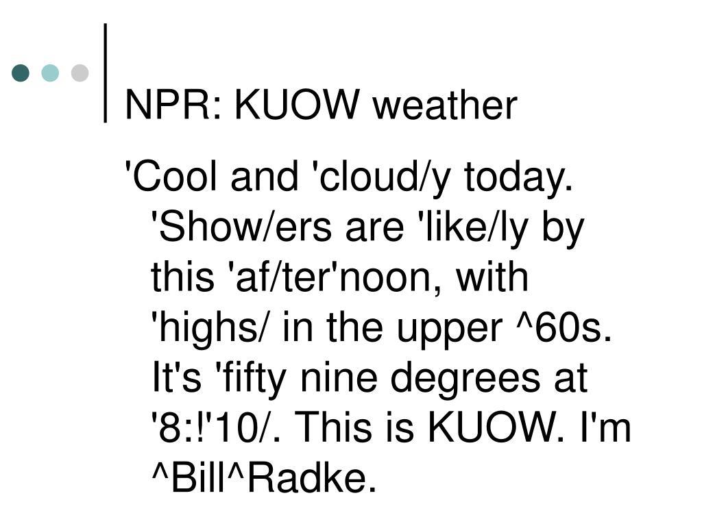 NPR: KUOW weather