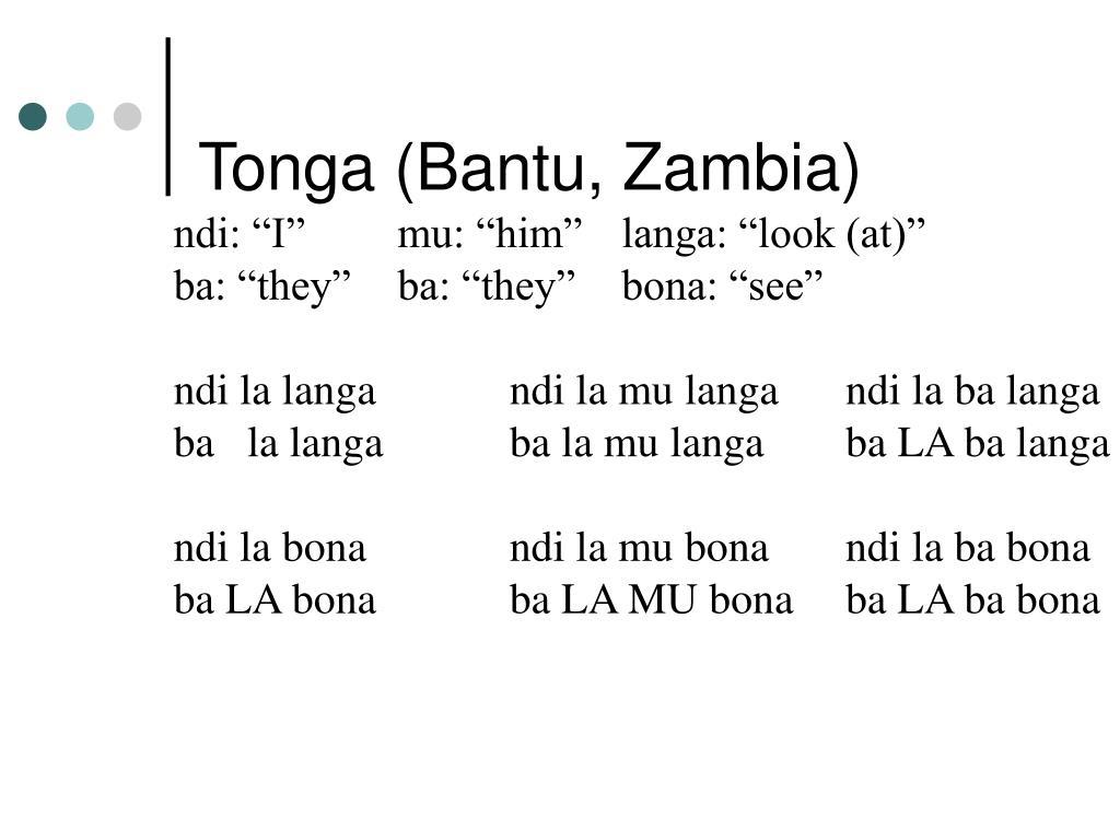 Tonga (Bantu, Zambia)