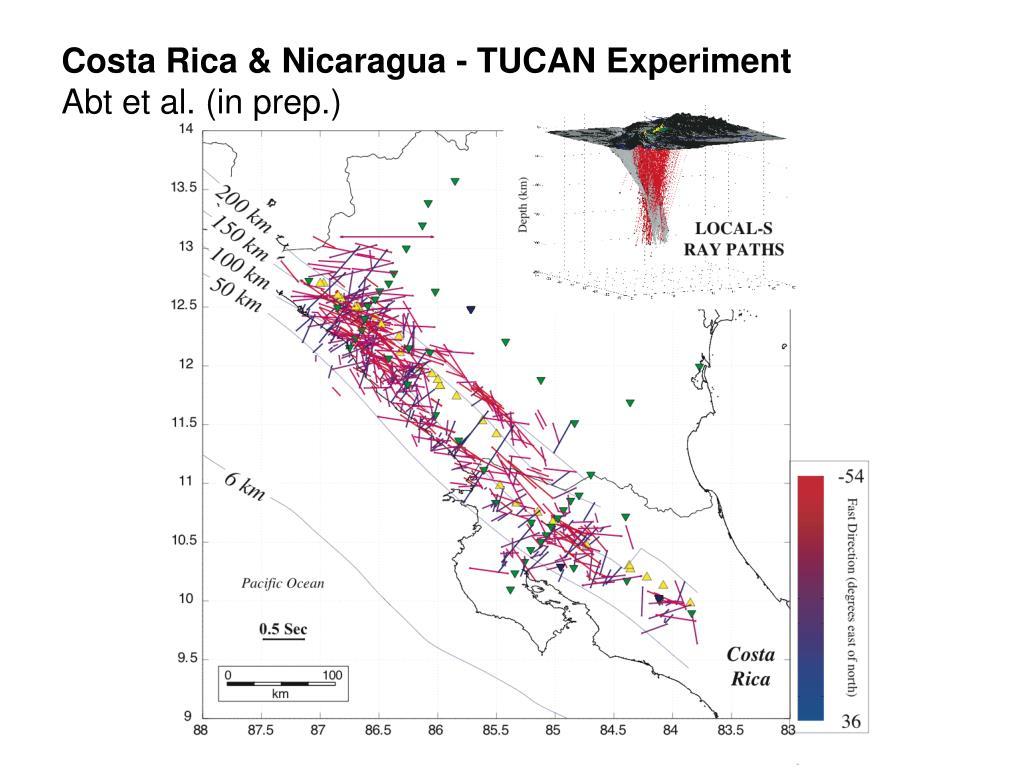 Costa Rica & Nicaragua - TUCAN Experiment