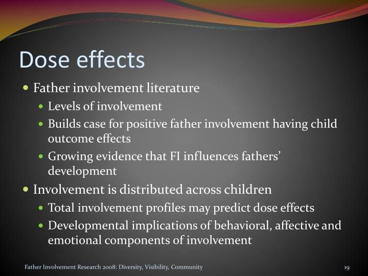 Dose effects