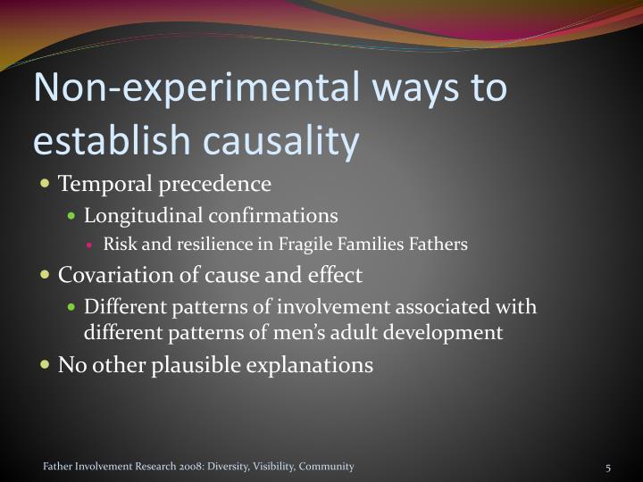 Non-experimental ways to establish causality