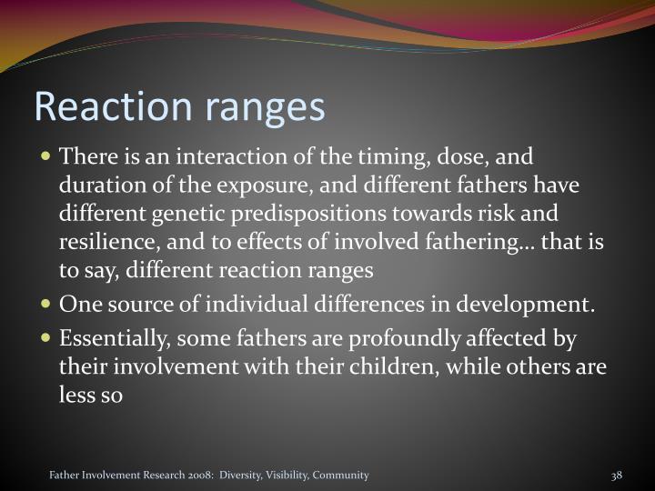 Reaction ranges