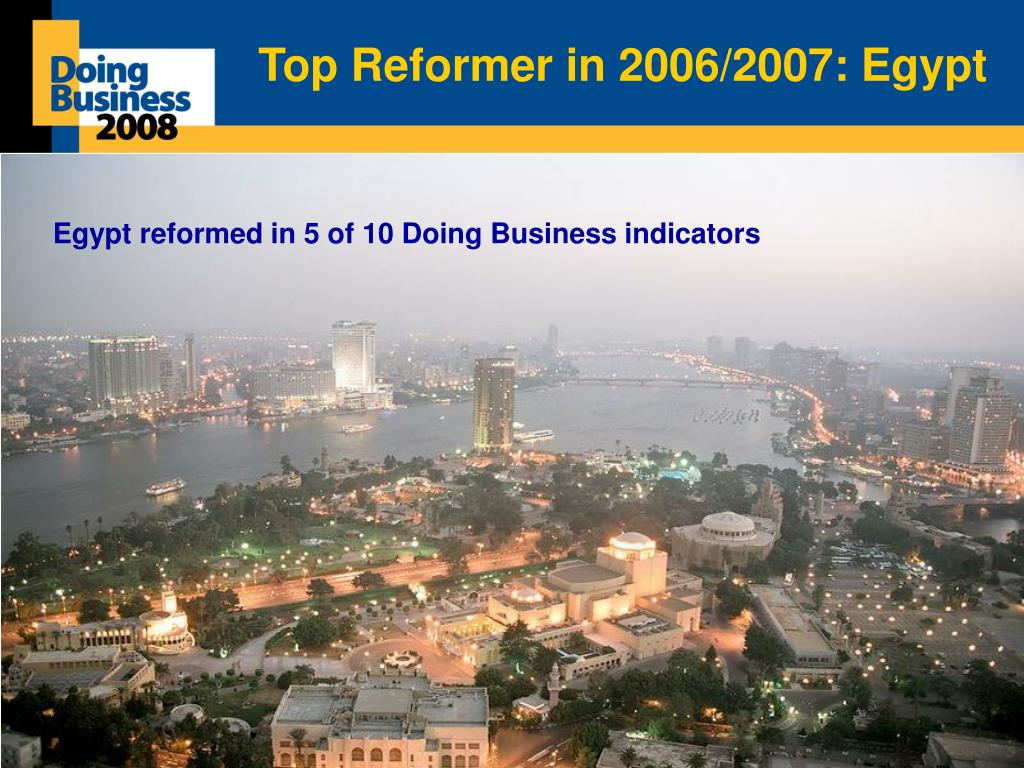 Top Reformer in 2006/2007: Egypt