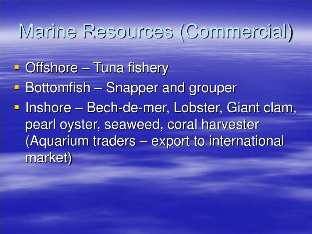Marine Resources (Commercial)